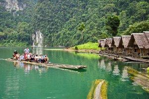 Рафтинг на бамбуковых плотах
